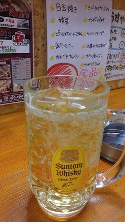 Tenri, Japan: カウンター席に座りハイボールを注文♪