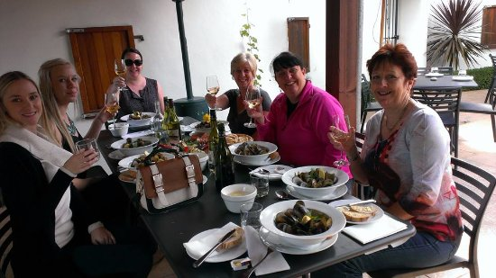 Picton, New Zealand: Lunch at Giesens Winery on our Showcasing Marlborough Wineries Tour