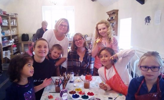 Dwyran, UK: Clay model making crafting