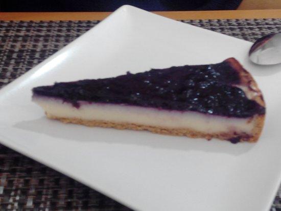 Restaurante A la Cazuela: Tarta de Queso y Arándanos
