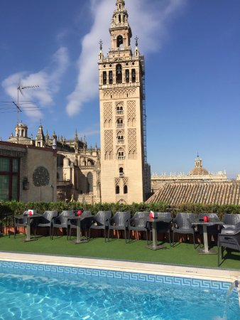 Hotel Dona Maria: View from the roof top pool