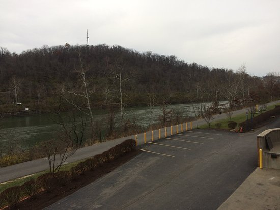 Morgantown Marriott at Waterfront Place: view of the river from hotel meeting room balcony