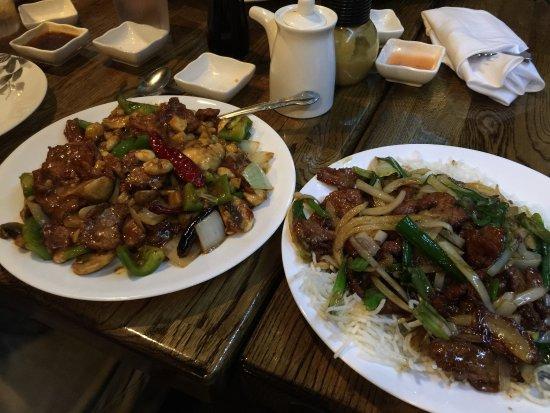 Woodstock, GA: Kung Pao Beef (left) & Mongolian Beef (right)