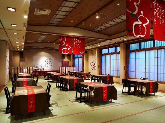 Shibata, Japan: 食事会場の一例