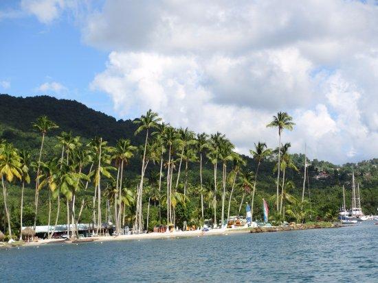 Vieux Fort, Sta. Lucía: Marigot Bay beach