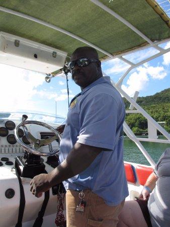 Vieux Fort, St. Lucia: Spencer Ambrose himself