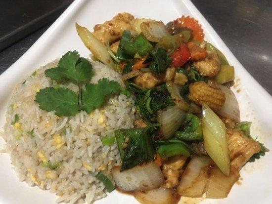 Гленелг, Австралия: Fried rice with Basil Stir-fried