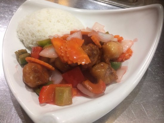 Coco House Cafe: Sweet & sour with rice