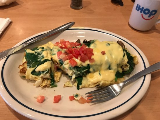 Clemson, Carolina del Sud: Spinich and mushroom omlette