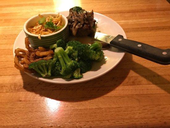 Ames, IA: 6oz topped steak, potato casserole