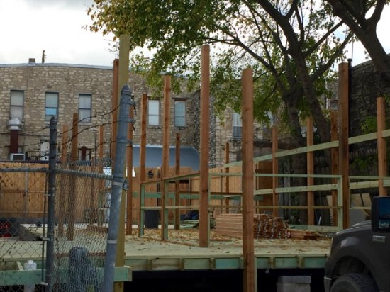 Georgetown, TX: Outdoor patio being built - should open before Christmas