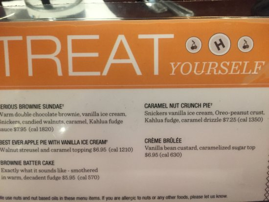 South San Francisco, CA: The calorific dessert menu