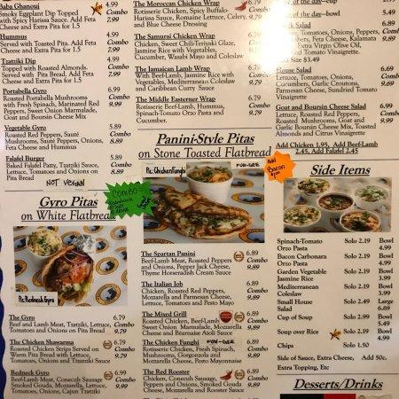 Mediterranean sandwich co mobile 274 dauphin st menu for Al tannour mediterranean cuisine menu