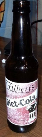 Schiller Park, IL: a bottle of Filbert's Diet-Cola