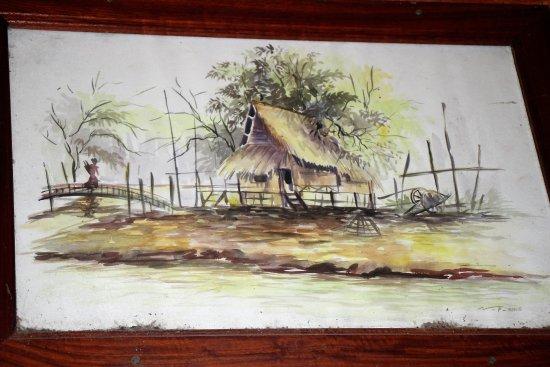 Luang Namtha, Laos: Restaurant decor 2