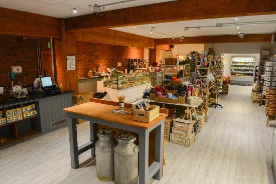 Nether Stowey, UK: View inside the Farm Shop & Café