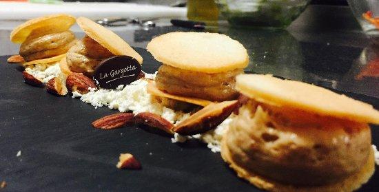 Castellucchio, Италия: Mousse di Castagne, cioccolato bianco e mandorle tostate...