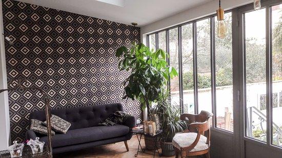 chambre miroir d 39 eau au 1er tage du clos labotti re billede af le clos labotti re bordeaux. Black Bedroom Furniture Sets. Home Design Ideas