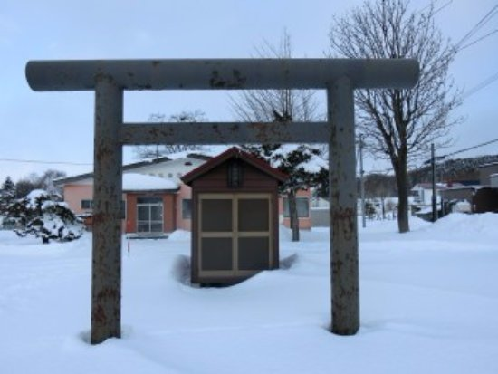 Sunagawa, اليابان: 鳥居と祠