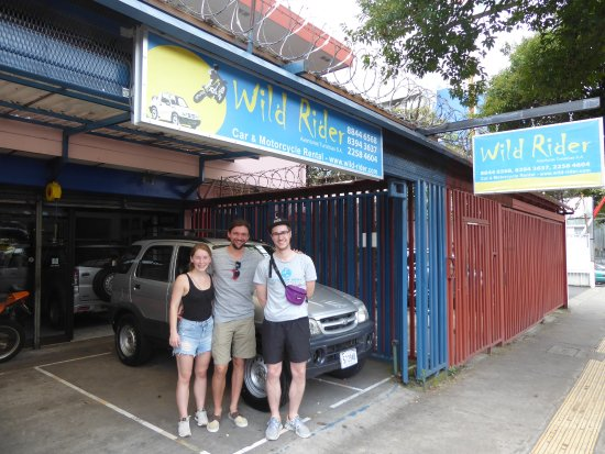 Wild Rider: At the car rental in San Jose