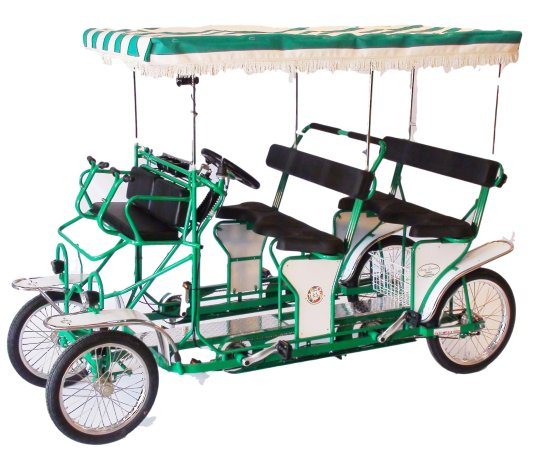 Electric Bike Miami: Surrey Extra Large Multifamily 6 adults + 2 childs