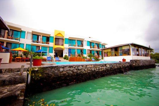 Hotel Solymar's Ocean front patio