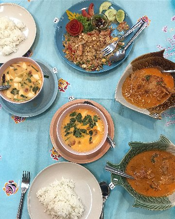 Samui Institute of Thai Culinary Arts: Soup, curry and fried rice! Seriously some of the best Thai food we've eaten on our trip!