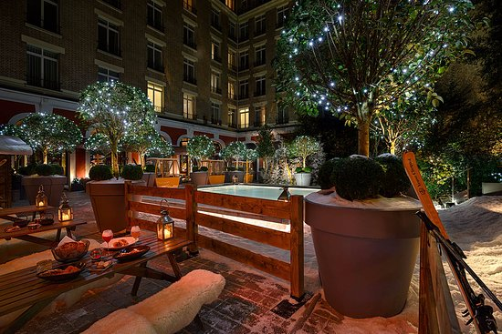 Winter terrace - Picture of Le Royal Monceau-Raffles Paris, Paris ...