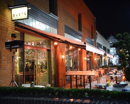 Nice Gusto Restaurant And Bar: Outside Terrace At Gusto Mere Green Restaurant U0026  Bar