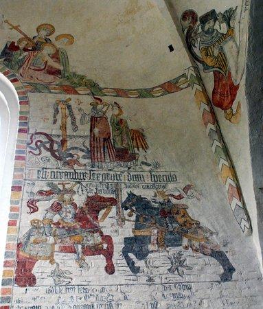 Dronninglund, الدنمارك: Kalkmalerier