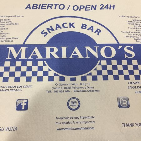 Snack Bar Mariano's: Great food as always, simple and cheap. With the best rotisserie chicken for miles around.