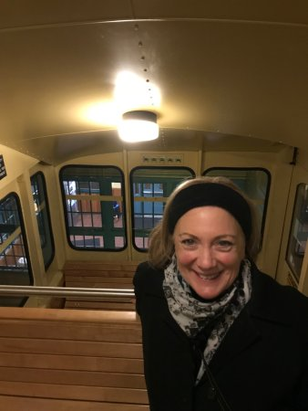 Duquesne Incline: Headed down on the Monongahela Incline