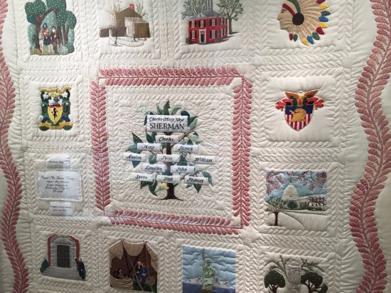 Lancaster, OH: Quilt of major events in Sherman's life.