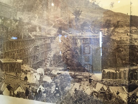Lancaster, OH: The camp where soldiers stayed while erecting the trestle.