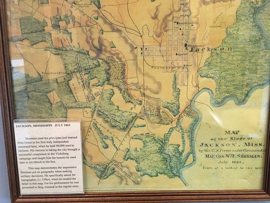 Lancaster, OH: Map to show land topography. Used while on Vicksburg campaign.