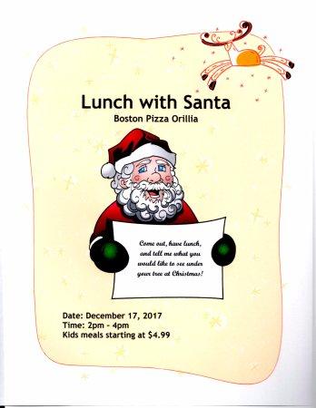 Orillia, Canada: Lunch With Santa
