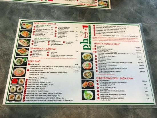 Sunnyvale, Kalifornien: 菜單正面