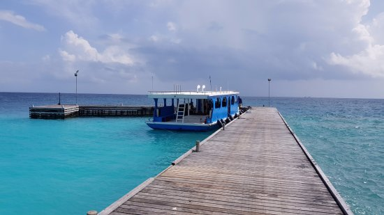 Fihalhohi Island: На этом катерочке, ходили на дайв
