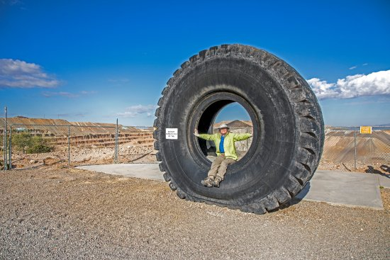 Sahuarita, AZ: Tires for the trucks that bring out ore.