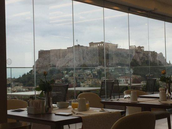 Electra Palace Athens: Colazione con vista Acropoli