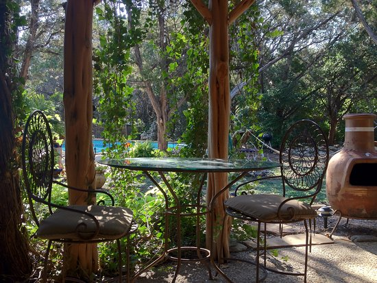 Casa del Sol Bed and Breakfast at Lake Travis : Patio in front of the Golden Sun Cottage