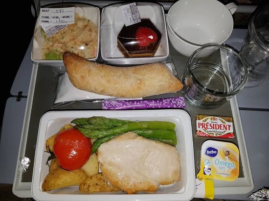 Low fat meal dinner - Picture of Singapore Airlines ...