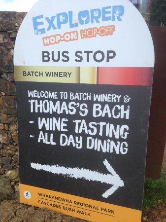 Isla Waiheke, Nueva Zelanda: HOHO Bus Stop