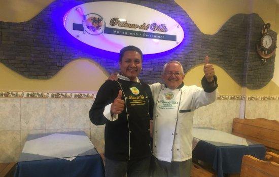 Sangolqui, Équateur : Compartiendo gratos momentos con el Grande de la Gastronomía Ecuatoriana Chef Albertito Guzmán