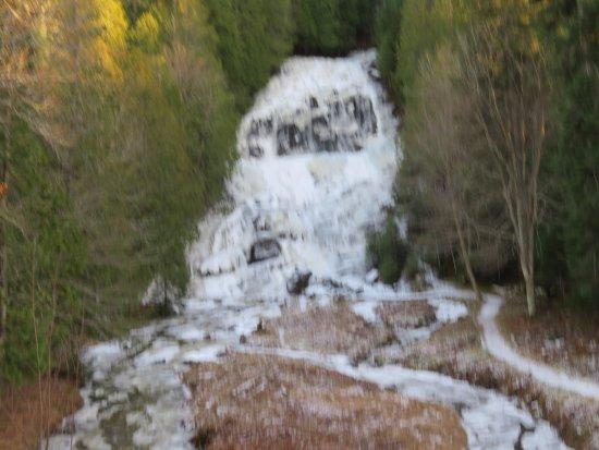 Colebrook, New Hampshire: Partial frozen falls - 11/2017