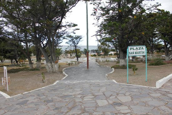 entrance from town