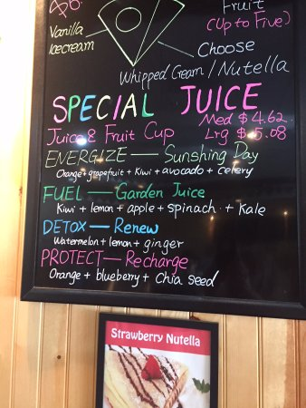 Sugar Land, TX: Just a fraction of the juices they offer. Check out their website.