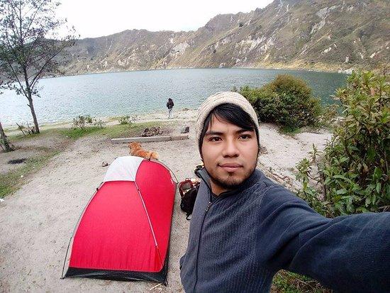 Quilotoa, Ecuador: Camping next to the lagoon