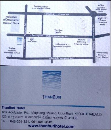 Visitenkarte Picture Of Thanburi Hotel Udon Thani