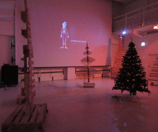 Museo de Arte de Reykjavik: Special Xmas exhibition with alternative trees and video display